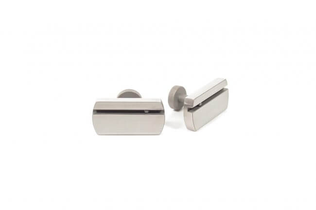 Stainless steel cufflinks with black diamonds M.9.003