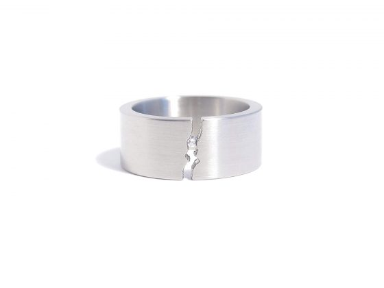 steel tension diamond ring