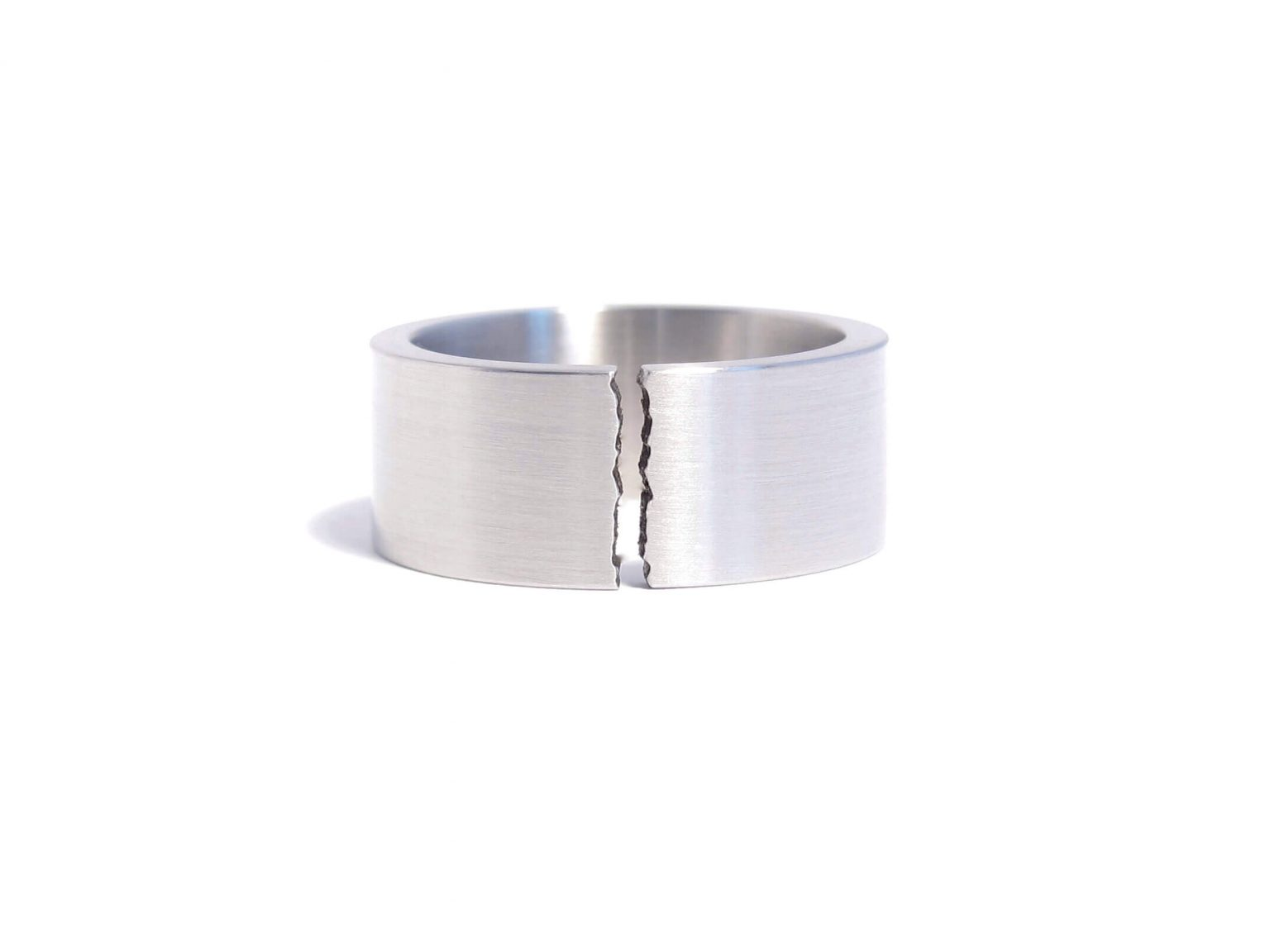 steel ring with a break line