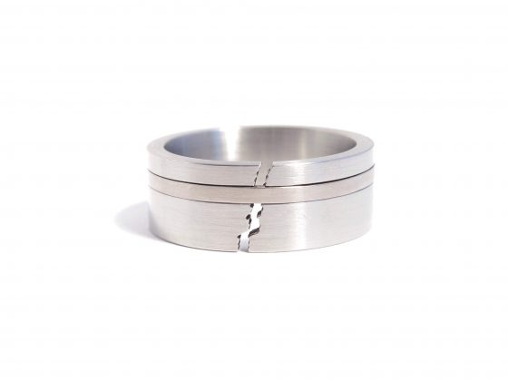 steel crackle ring