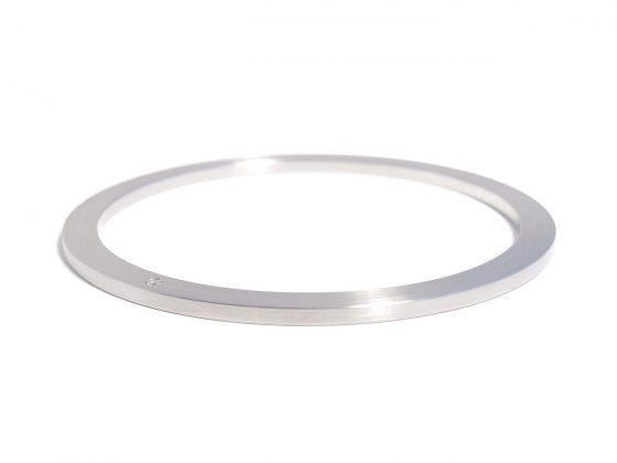 steel bracelet with small diamond