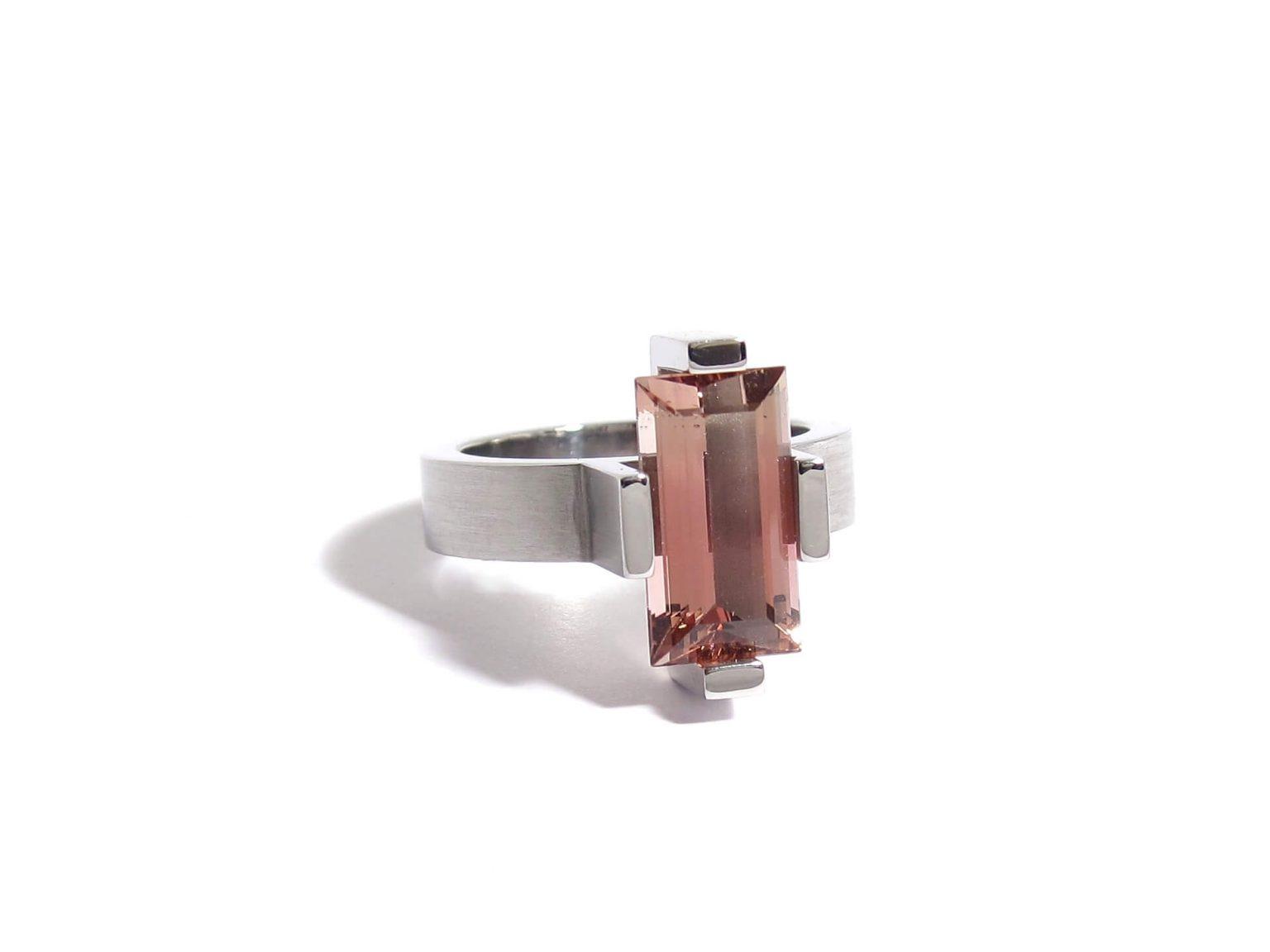 pink tourmaline cocktail ring
