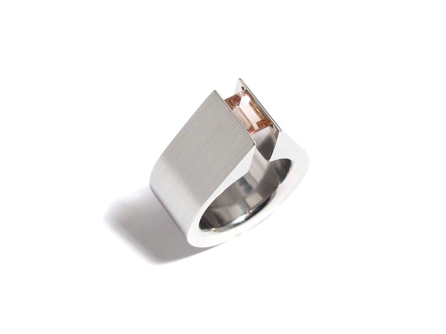pink tourmaline tension ring
