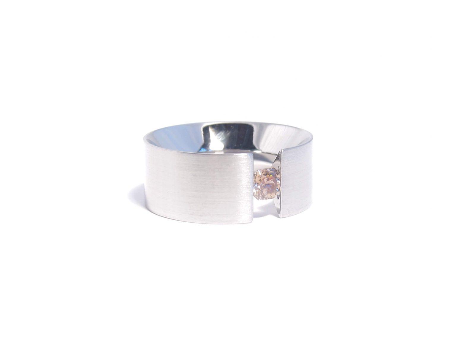 cognac diamond tension ring