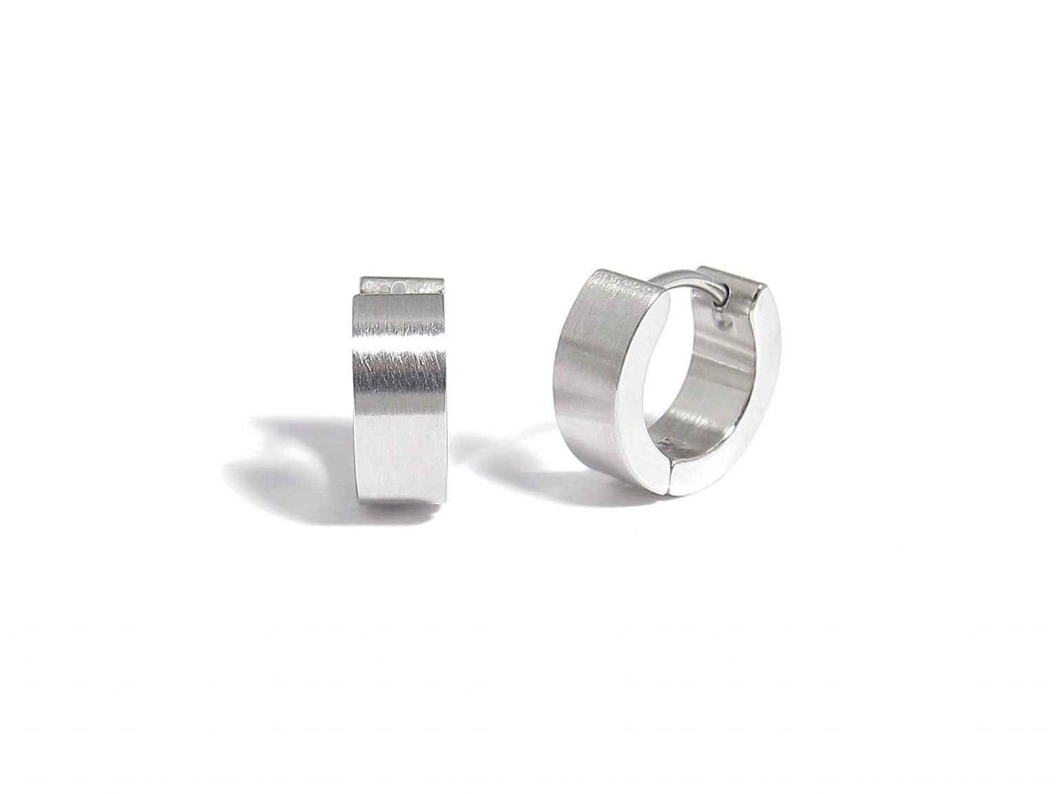 steel creole earrings