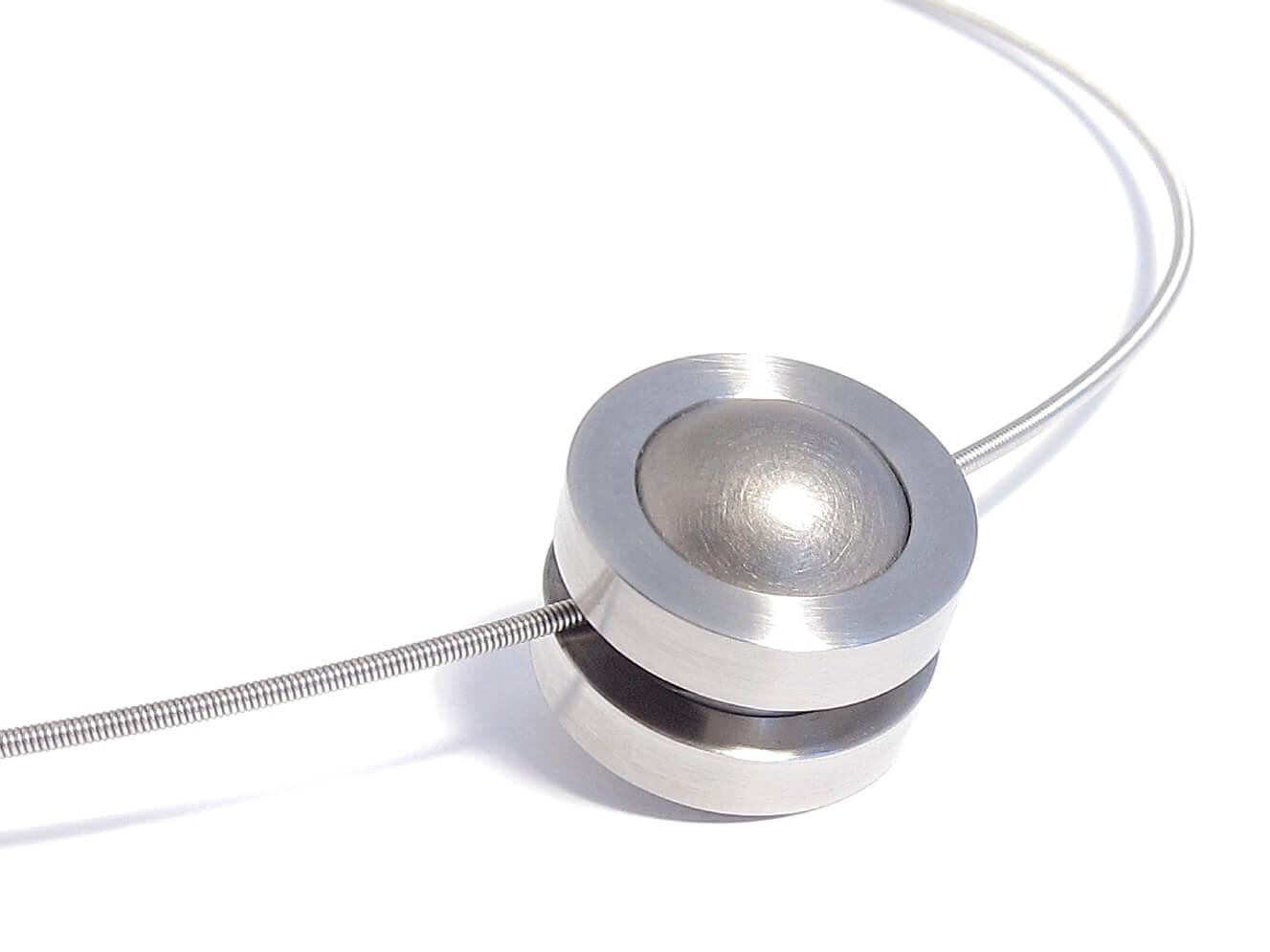 steel and titanium necklace