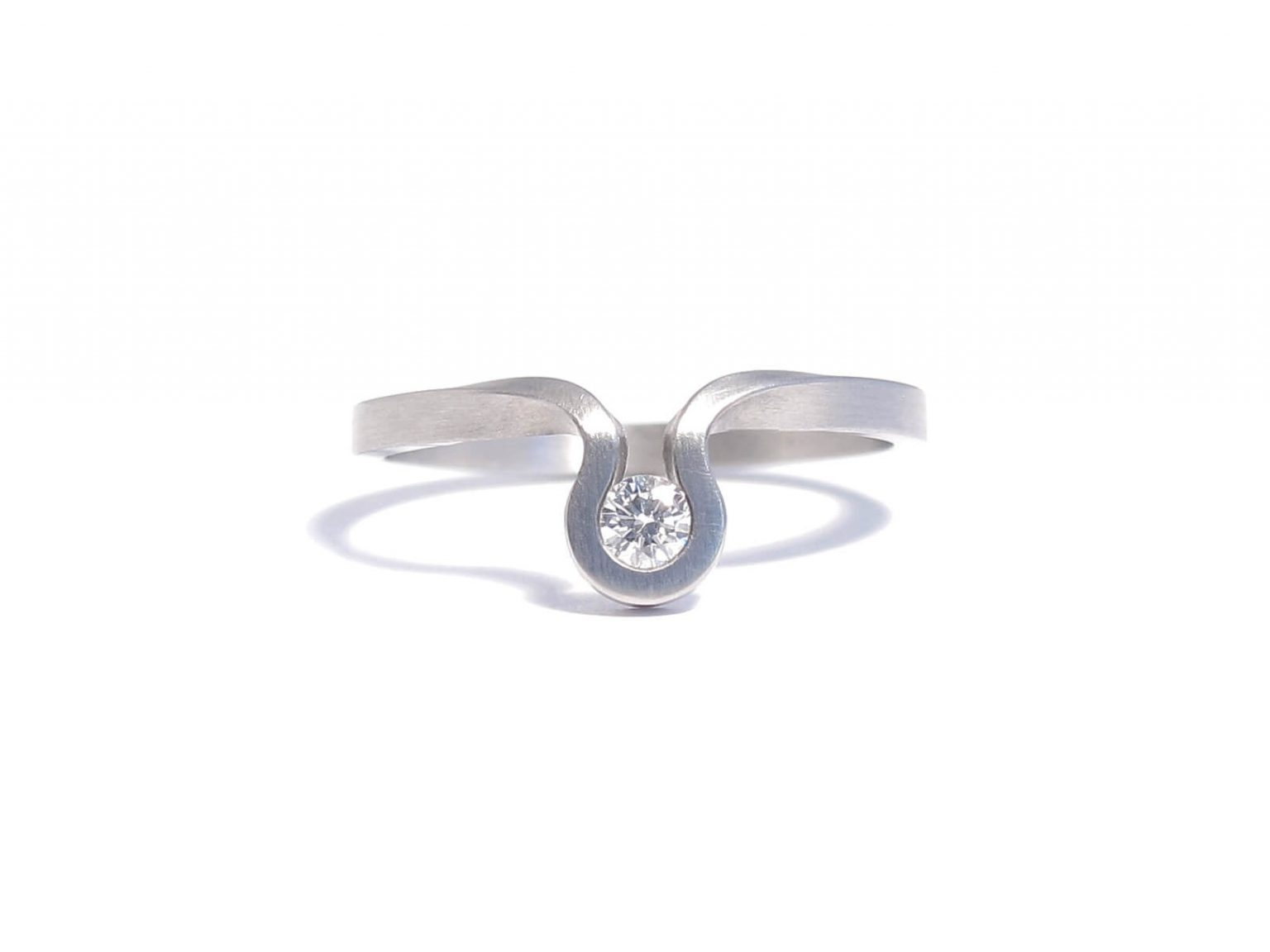 diamond and steel ring