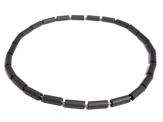 black steel necklace