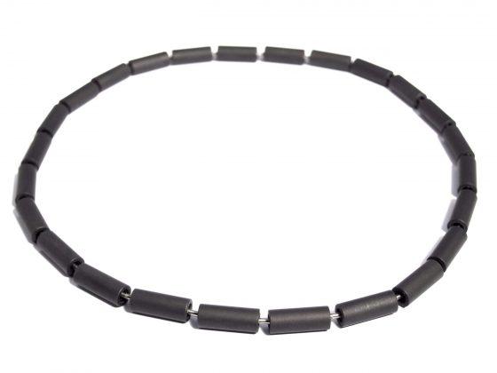black steel necklace