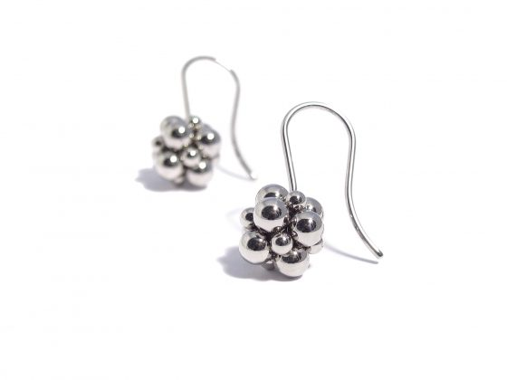polished sphere earrings