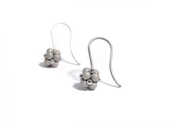 matte and polished sphere earrings